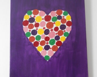 Spotted Heart Painting