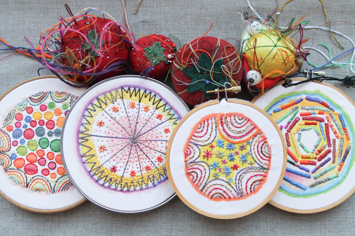 Rebecca Ringquist Dropcloth embroidery sampers