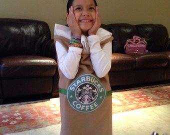 Starbucks Cup Custom Costume Child Size Cappuccino Frappuccino