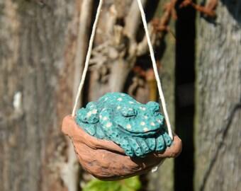 Sleeping Frog Ornament