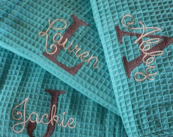 Personalized Bridesmaid Robe ,Monogrammed Robe, Waffle Robe, Personalized Bridesmaid Gifts