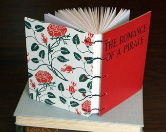 Romance of a Pirate Upcycled Blank Journal