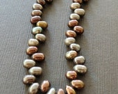Chocolate Bronze Top Drilled Pearls
