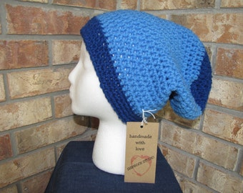 Slouchy Beanie Hat - Royal Delft Blue