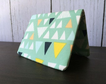 Card Wallet - Seafoam Triangle