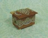 Dollhouse Miniature Lace Designs Cedar Chest