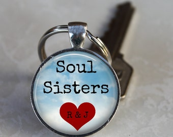 Soul Sisters Key Chain - Customized with Initials