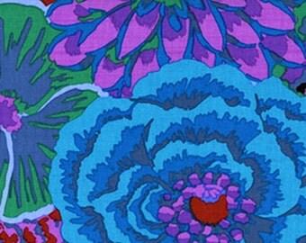 Bekah in COBALT Blue,, by Kaffe Fassett GP69 Westminster Fabric / 1/2 yard Cotton, Quilt Craft and Apparel fabric