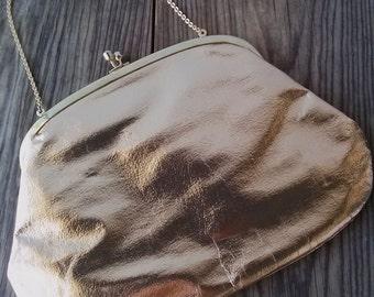 Vintage 1950s Purse Gold Foil Evening Bag Miss Koret 2015358