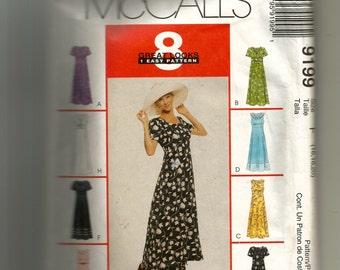 McCall's Misses Dress Pattern 9199