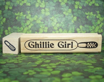 Ghillie Girl Rubber Stamp Set Irish and Highland Dance Shoes Crafting Scrapbooking