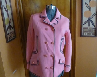 Mod 60s Peach Green Fitted Scooter Cardigan