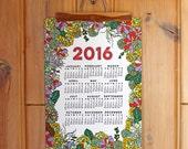 2016 wall calendar-13 x 19 poster-Succulent edition