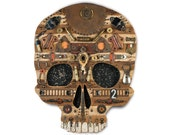Early Man Steampunk Skull Wall Sculpture