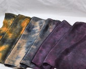 SALE 50% OFF Hand Dyed Silk Satin Scarf 14 x 72 inches of Luscious, Colorful Silk Plum, Pumpkin, Mocha