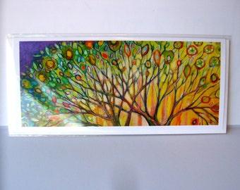 Skinny Card - Summer Trees - 4 x 9 Blank Note Card by Jenlo