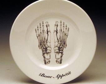 "Bone Appetit 7"" dessert plate : Feet"