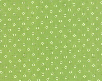 Hello Darling - Lollies in Green: sku 55115-15 cotton quilting fabric by Bonnie and Camille for Moda Fabrics - 1 yard