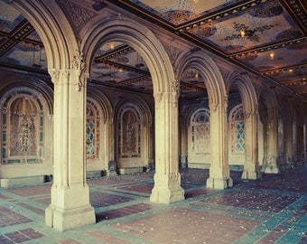 Bethesda Terrace Arcade, New York Photography, Architecture Art, NYC Print, Fine Art Photography, Large Wall Art, Central Park
