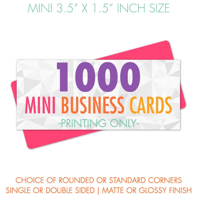Business cards mini 1000 business cards printed business for Business cards 1000
