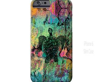 Sea Turtle, iPhone 6 case, iPhone 6s case, iPhone 6 Plus case, iPhone 7 case, Galaxy S7 Case, Sea turtle case, Note 5 case, ingridsart