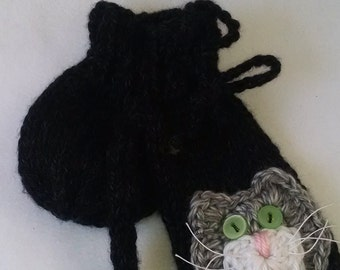 Willie Warmer Penis Cozy, Black Tomcat willie warmer for men, mature
