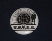"""Man From U.N.C.L.E. Classic Logo Button 1.25"""" Pinback Badge UNCLE"""