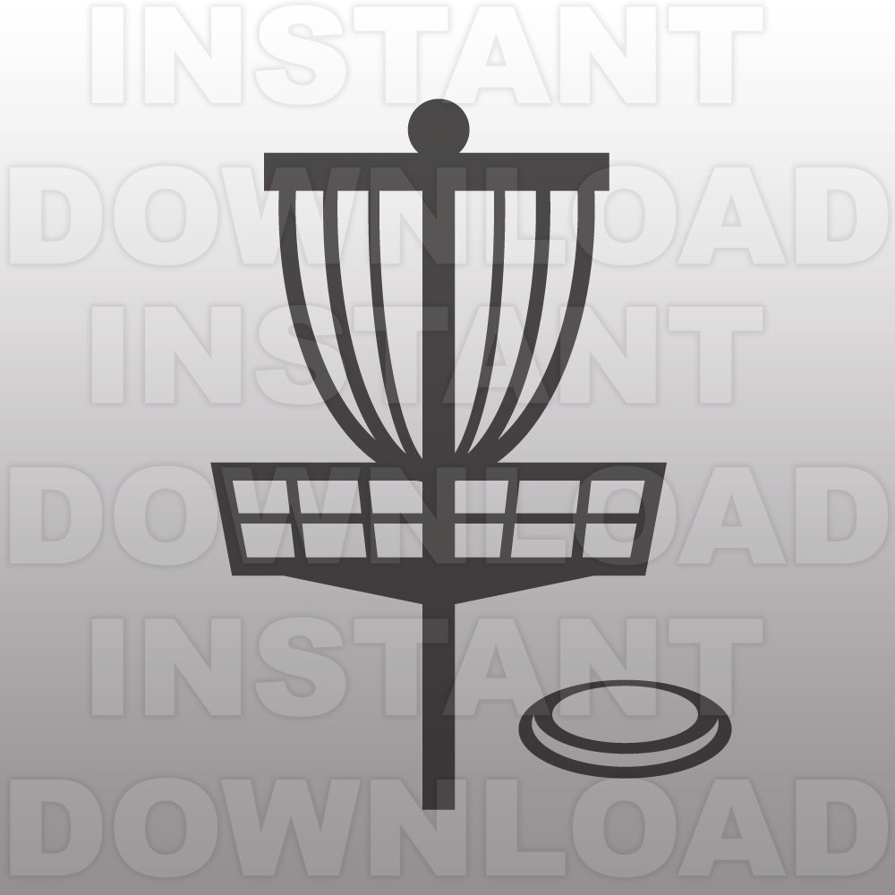 Disc Golf SVG File Cutting Template-Clip Art for Commercial