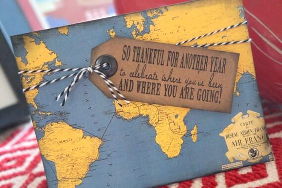 Travel Themed Birthday Card – Themed Birthday Cards