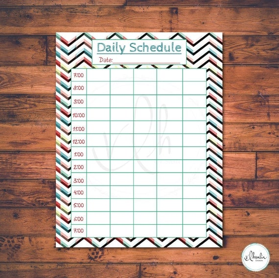 Diy Calendar Homeschool : Printable home school daily schedule funky by vlhamlindesign
