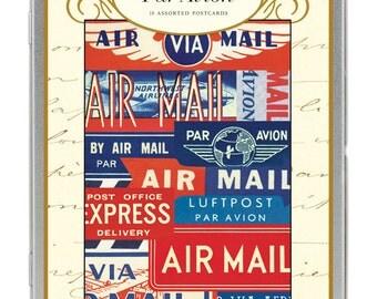 SALE Vintage Par Avion Carte Postale postcard set Air Mail