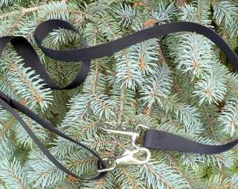 """Removable adjustable shoulder strap, replacement strap, 1"""" wide, heavy silver clips, black nylon or cotton, Extra Long,  not for my bags"""