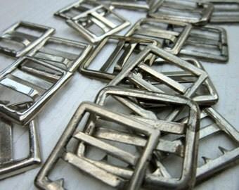 Vintage Metal Buckles - Silver steel