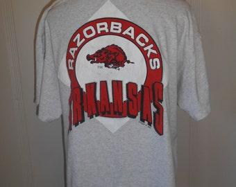 vintage t shirt  tee    college      Arkansas Razorbacks    XL
