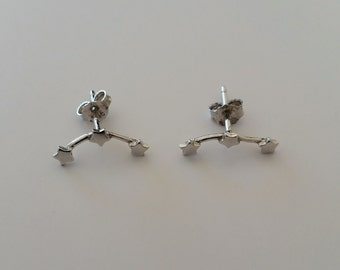 Stars sterling silver (925) earrings