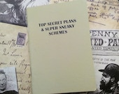 Pocket Notebook- Top Secret Plans And Super Sneaky Schemes- Featured on Buzzfeed!
