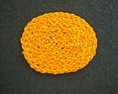 Dollhouse Miniature Oval Braided Rug (Goldenrod)