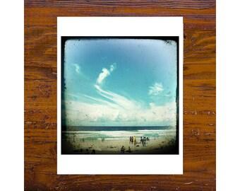 8x8 Print [JCP-071] - Beach Life - manly beach, sydney, blue, cloud