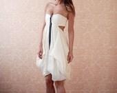 Eco Friendly, Hemp Silk Bandeau Top Dress with Front Zipper Detail--Size 0 (Sample Sale)
