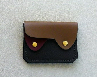 Small  Leather Wallet, Coin Purse, Card Case,  Earth Colors Wallet