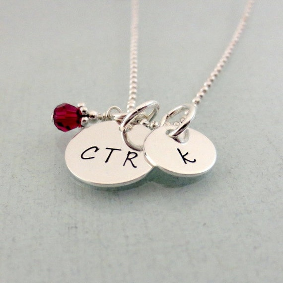 personalized ctr necklace initial necklace choose the