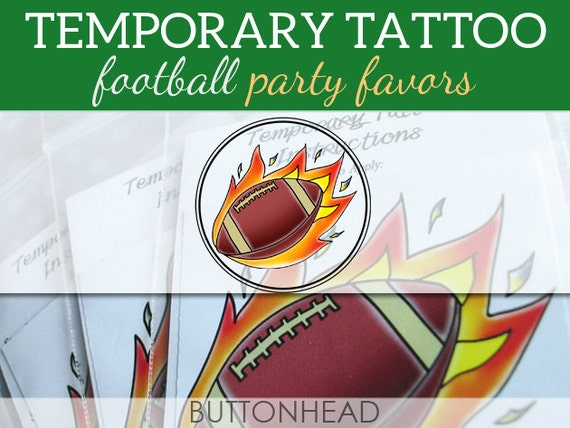 6 Super Bowl Party Favors - Superbowl Football Party Favors - Temporary Tattoos Homecoming Tailgate Favors