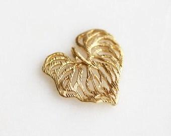 Matte Gold Filigree Leaf, Earring Findings, Connectors