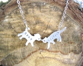 Mini Cat & Dog Spay Neuter Necklace-Vegan Necklace-Companion Animal-Rescue Dog-Rescue Cat-Mixed Breed-House Cat-Mutt-Pet Memorial-Gift-Eco