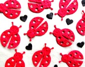 25 Seed Paper Ladybug Birthday Party Favors - Lady Bug Baby Shower Plantable Seed Paper Ladybugs Confetti - Plantable Pots Option