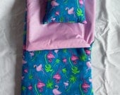 Handmade Sleeping Bag (Flamigo) fits 18 inch Doll Like American Girl