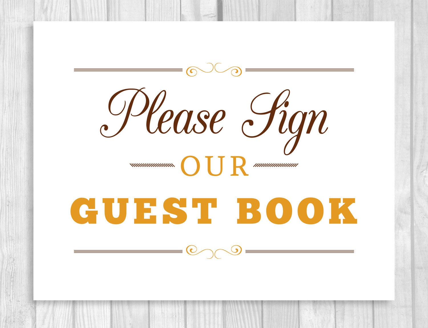It's just an image of Clean Please Sign Our Guestbook Printable