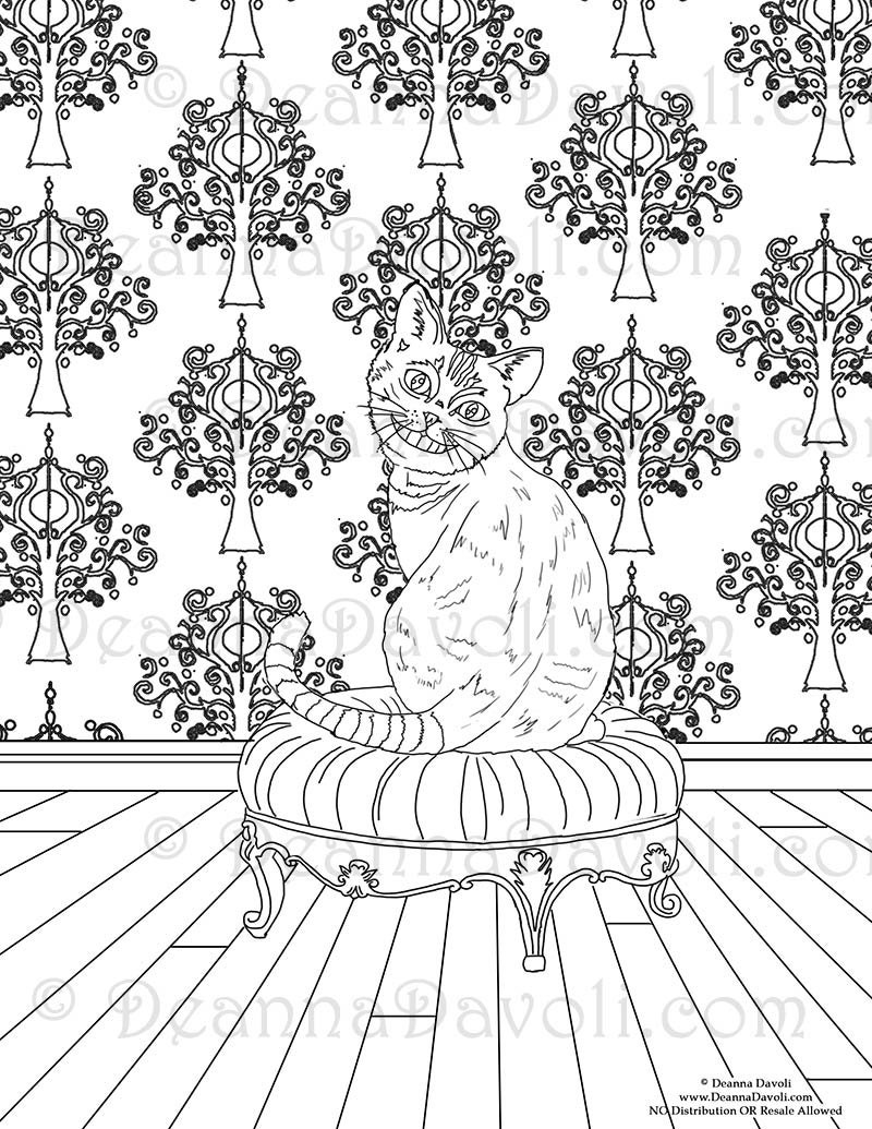 cheshire cat coloring page alice in wonderland coloring page