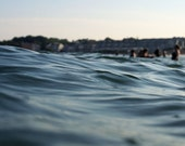 Abstract Ocean Wave Photograph - Intimate Water Seascape of Swimmers at the Beach - Within Waves 2