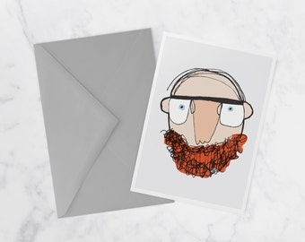 Je porte la barbe, Note card